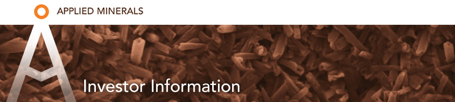 Applied Minerals - Investor Information